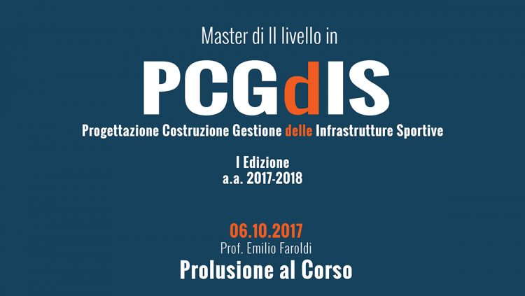 MASTER_PCgdIS: Prolusione di avvio del Corso