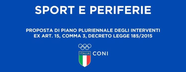 """CONI: Istituzione del Fondo """"Sport e Periferie"""""""