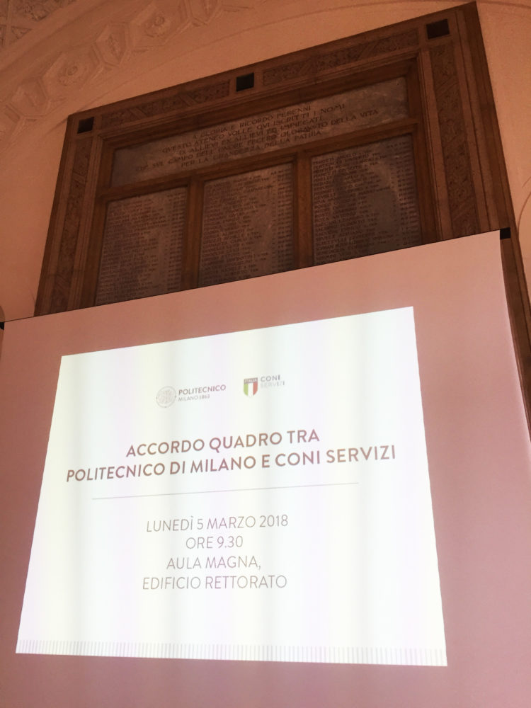 Firmato l'Accordo Quadro tra Politecnico di Milano e Coni Servizi