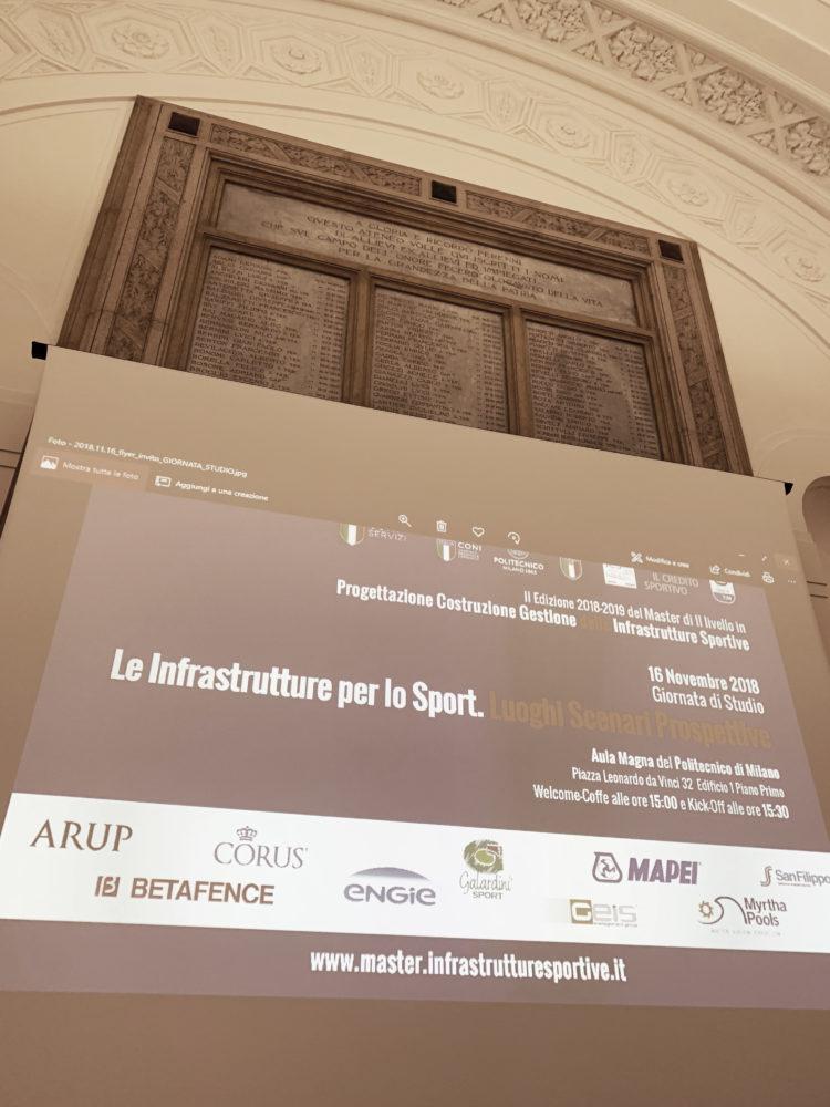 """II Giornata di Studio  """"Le infrastrutture per lo Sport. Luoghi Scenari Prospettive"""" – REPORT"""