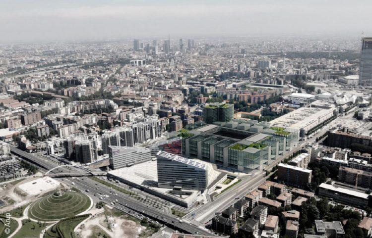 IL NUOVO STADIO DELL'AC MILAN AL PORTELLO